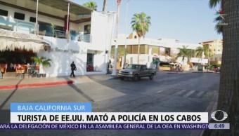 Turista estadounidense asesina a policía municipal de Los Cabos
