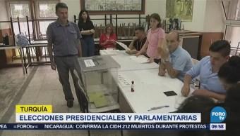 Turquía Celebra Elecciones Presidenciales Parlamentarias