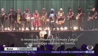 U2 dedica canción a Anthony Bourdain en concierto
