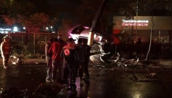 Mueren dos hombres por accidentes viales en la CDMX
