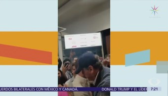 Vicente Fox recibe a Anaya en el AICM y muestra su respaldo