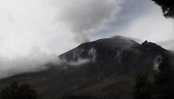 Sistema de monitoreo registra 78 exhalaciones del volcán Popocatépetl