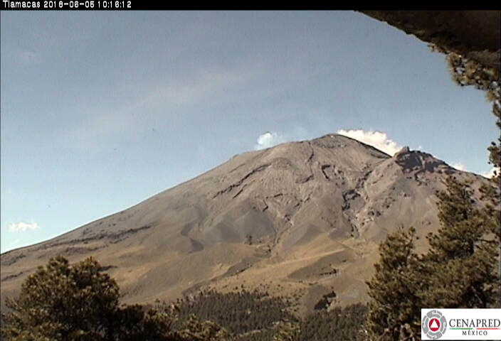 Alerta del volcán Popocatépetl se mantiene en amarillo fase 2