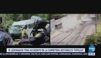 15 Lesionados Tras Accidente Carretera Xochimilco Topilejo