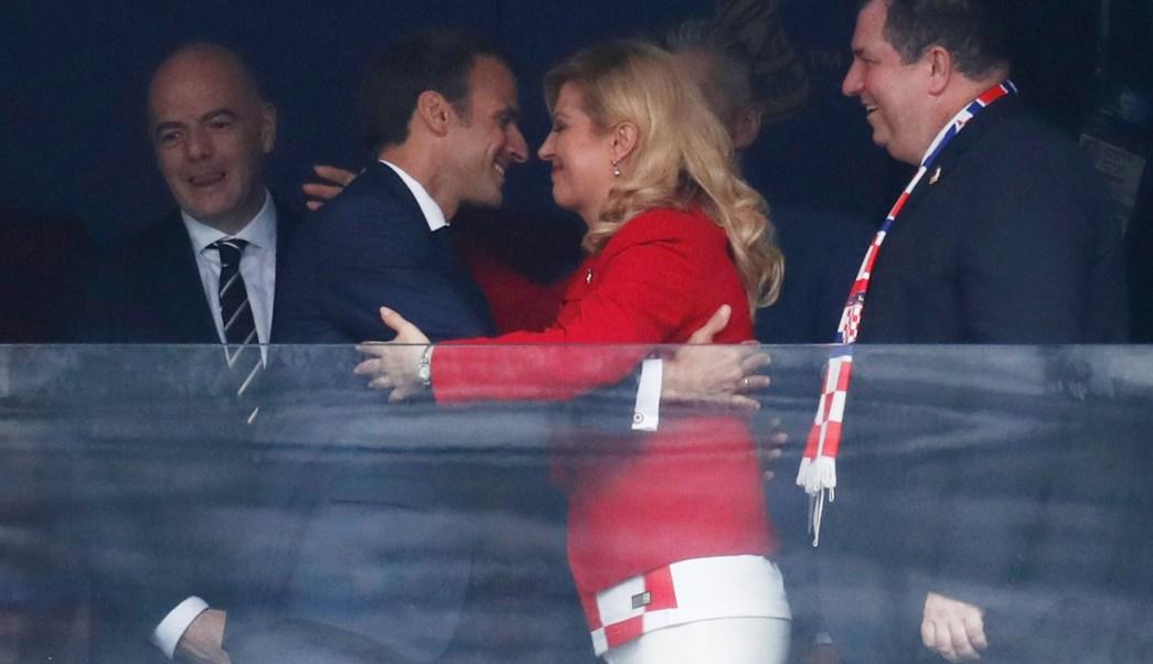 Putin y Macron asisten juntos a la final del Mundial