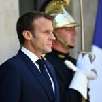 Macron abre el Elíseo para ver Uruguay-Francia con jóvenes