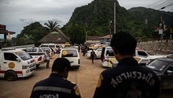 Heridos durante el rescate de atrapadosa en Tailandia
