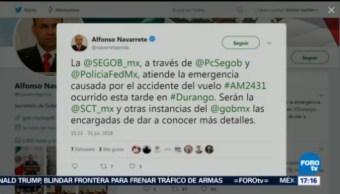 Segob Atiende Emergencia Accidente Avión Durango