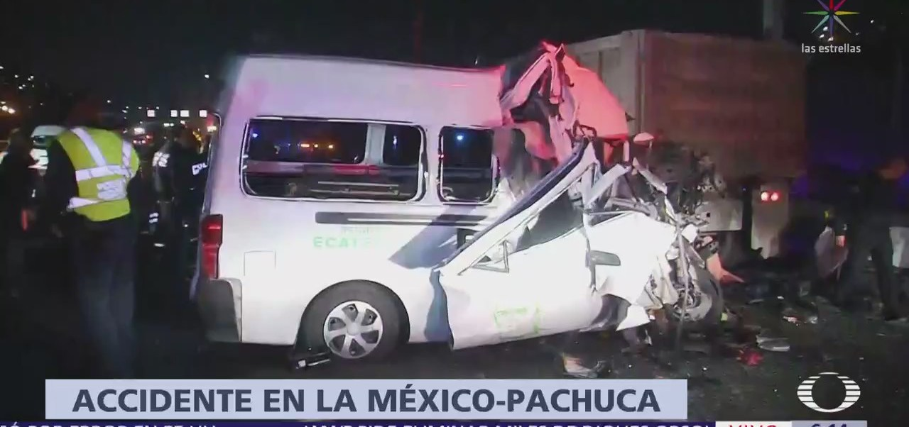 Accidente automovilístico en México-Pachuca varios muertos