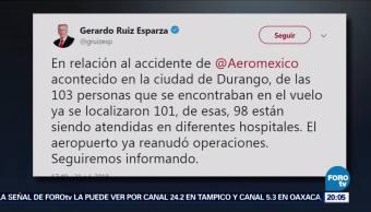 Aeropuerto de Durango reanuda operaciones