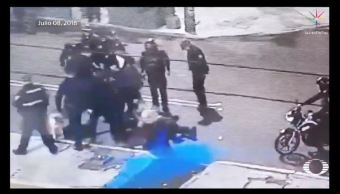 Revelan video de agresión contra reportero en la Doctores