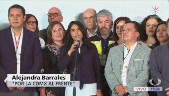 Alejandra Barrales pide serenidad a contendientes