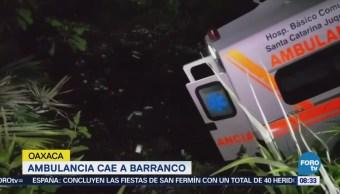 Ambulancia Cae Barranco Oaxaca Acidente Mixtepec