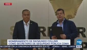 Amieva Presenta Raymundo Collins Como Nuevo Secretario Ssp-Cdmx