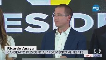 Anaya Reconoce Encuestas No Favorecen AMLO