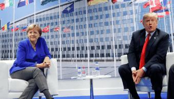 Trump y Merkel aseguran que mantienen buena relación