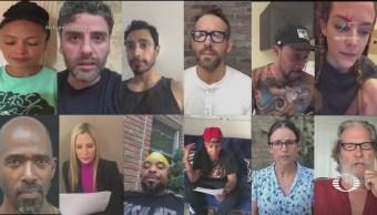 Artistas de Hollywood presentan carta de migrante separada