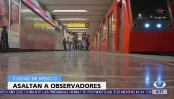Asaltan a observadores de la OEA en Metro CDMX