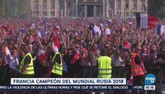 Así Celebraron Franceses Goles Selección París