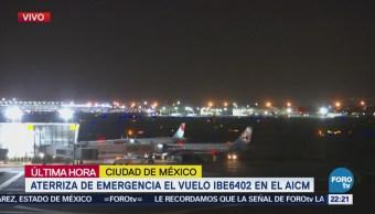 Aterriza de emergencia vuelo de Iberia en AICM