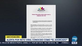 """Autoridades alertan por reto viral conocido como """"El ahorcado"""""""