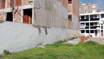 Cae barda de construcción en la colonia Doctores, CDMX