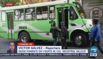 Camión de pasajeros atropella a mujer en Industrial Vallejo, CDMX