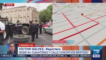 Camión Descompuesto Obstruye Cuatro Carriles Cuauhtémoc
