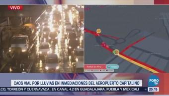 Caos Vial Encharcamientos Ciudad de México CDMX