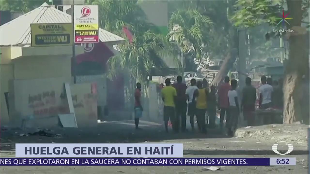 Capital de Haiti se paraliza por huelga contra gasolinazo