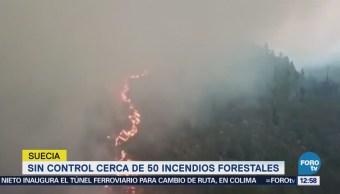 Cerca de 50 incendios forestales en Suecia están sin control