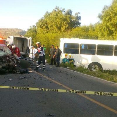 Choque en Ahualulco, San Luis Potosí, deja un muerto y tres heridos