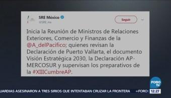 Comienza cumbre ministerial de la Alianza del Pacífico: SRE