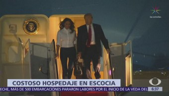 Comitiva de Trump gasta 59 mil euros en hotel de Escocia