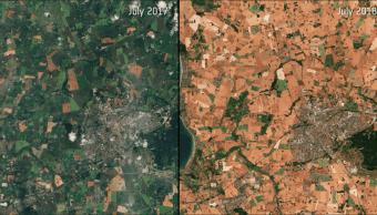 ESA muestra fotos de Dinamarca sobre desertización
