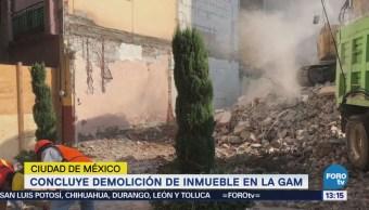 Concluye Demolición Inmueble Afectado Gam