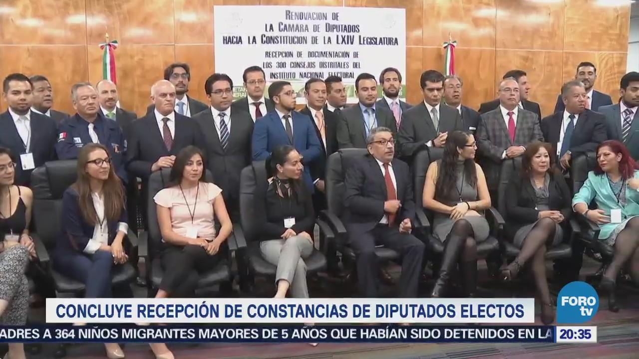 Concluye recepción de constancias de diputados electos