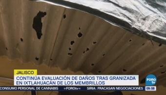 Continúa evaluación de daños tras granizada en Ixtlahuacán