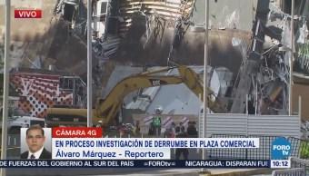 Continúan Investigaciones Derrumbe Plaza Comercial Artz Pedregal