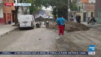 Controlan fuga de gas en la colonia Algarín, CDMX