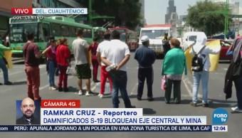 sismo cierran Eje Central Lázaro Cárdenas