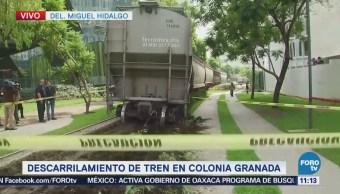 Descarrila tren en la avenida Ferrocarril de Cuernavaca, CDMX