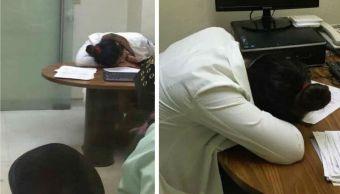 IMSS Dice Que Médicos Pueden Descansar Hospitales, Doctora Dormida IMSS, IMSS Médicos Pueden Dormir, Doctora Dormida Clinica IMSS, IMSS, Coahuila