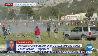 Dos explosiones de pirotecnia en Tultepec dejan varios heridos