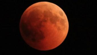 Imágenes Eclipse Largo Siglo Lunar Luna