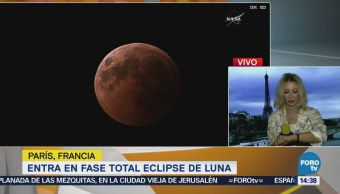 Eclipse Lunar Entra Fase Total
