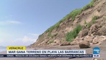 Mar Gana Terreno Playa Las Barrancas Veracruz