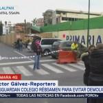 Envían granaderos a inmediaciones del Colegio Rébsamen