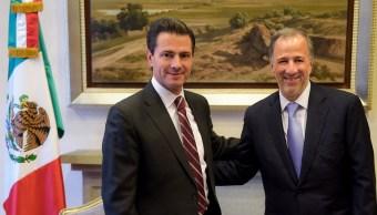 Peña Nieto reconoce convicción democrática de Meade y le desea éxito