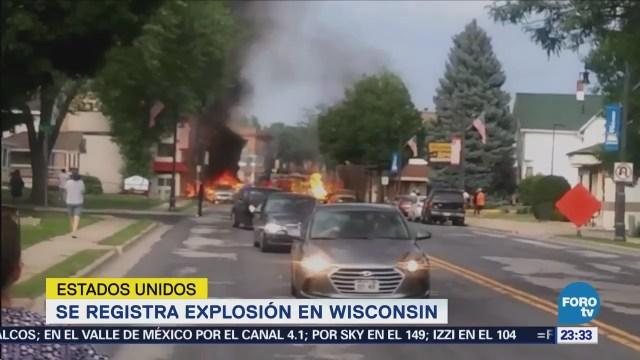 Se registra explosión en Wisconsin
